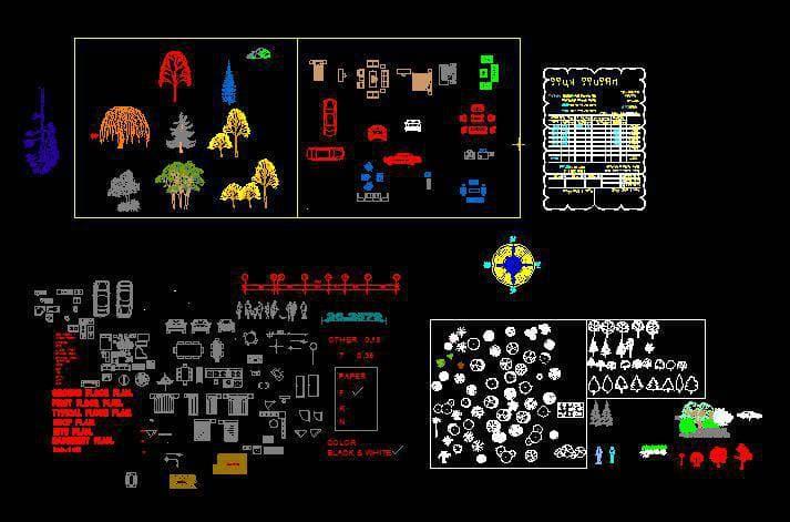 مجموعه کامل از المان و شابلون معماري