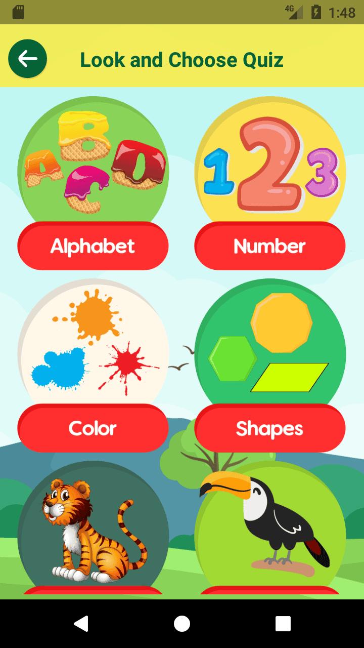 دانلود سورس کد برنامه اندرویدی در موضوعآموزشی زبان انگلیسی برای کودکان 1